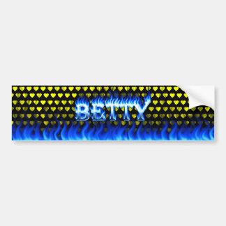 Fuego de Betty y diseño azules de la pegatina para Pegatina Para Auto