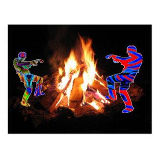 Fuego de Bonne del Bon del fiesta de la hoguera Tarjetas Postales