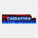 Fuego de Cassandra y desi azules de la pegatina pa Etiqueta De Parachoque