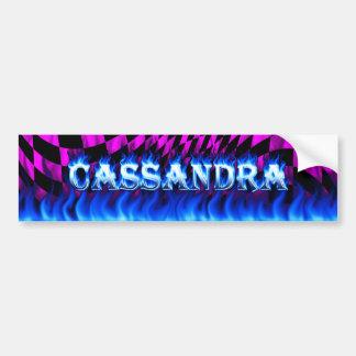 Fuego de Cassandra y desi azules de la pegatina Pegatina Para Auto