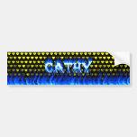 Fuego de Cathy y diseño azules de la pegatina para Pegatina De Parachoque