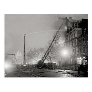 Fuego de cinco alarmas en Night, 1925 Tarjetas Postales