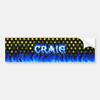 Fuego de Craig y diseño azules de la pegatina para Pegatina Para Auto