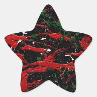 FUEGO DE DESTELLO (diseño del arte abstracto - ~ Pegatinas Forma De Estrellaes