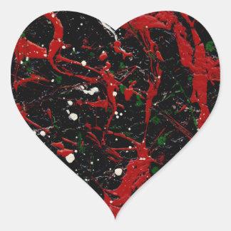 FUEGO DE DESTELLO (diseño del arte abstracto - ~ Calcomanía Corazón