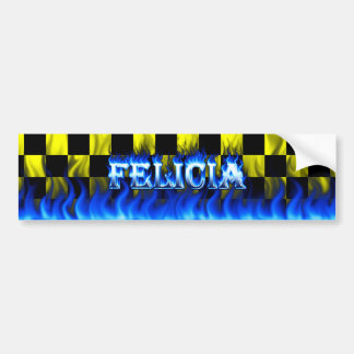 Fuego de Felicia y diseño azules de la pegatina pa Pegatina Para Auto