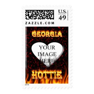 Fuego de Georgia Hottie y corazón de mármol rojo Sellos