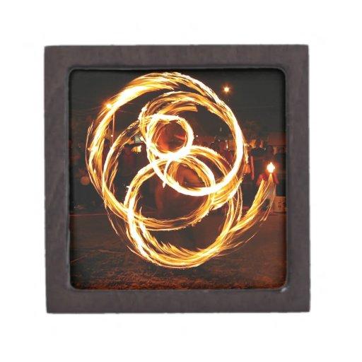 Fuego de giro - extracto caja de joyas de calidad