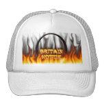 Fuego de Gran Bretaña Hottie y mármol del rojo de  Gorra