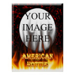 Fuego de Hottie del americano y mármol del rojo de Posters