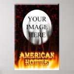 Fuego de Hottie del americano y mármol del rojo de Impresiones