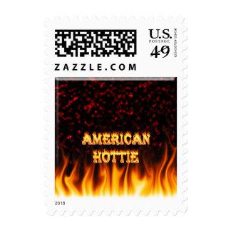 Fuego de Hottie del americano y mármol del rojo de Sellos