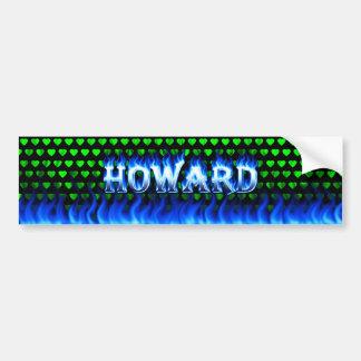 Fuego de Howard y diseño azules de la pegatina par Pegatina Para Auto