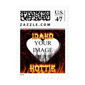 Fuego de Idaho Hottie y corazón de mármol rojo Sello Postal