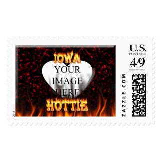 Fuego de Iowa Hottie y corazón de mármol rojo Sellos