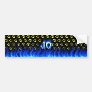 Fuego de Jo y diseño azules de la pegatina para el Pegatina Para Auto
