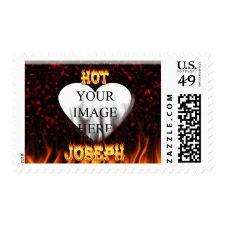 Fuego de José y mármol calientes del rojo de las Sello