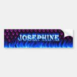 Fuego de Josephine y desi azules de la pegatina pa Etiqueta De Parachoque