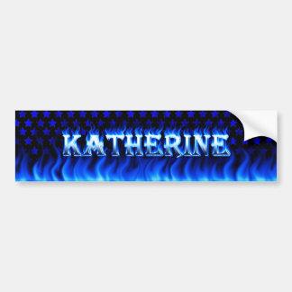 Fuego de Katherine y desi azules de la pegatina pa Pegatina Para Auto