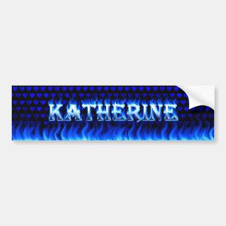 Fuego de Katherine y desi azules de la pegatina Pegatina Para Auto