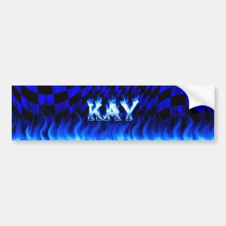 Fuego de Kay y diseño azules de la pegatina para Pegatina Para Auto