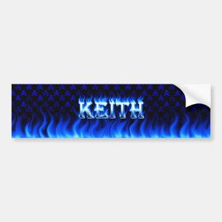 Fuego de Keith y diseño azules de la pegatina para Pegatina Para Auto