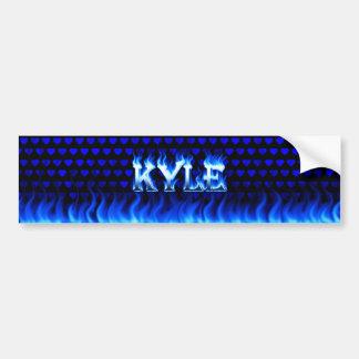 Fuego de Kyle y diseño azules de la pegatina para  Pegatina Para Auto