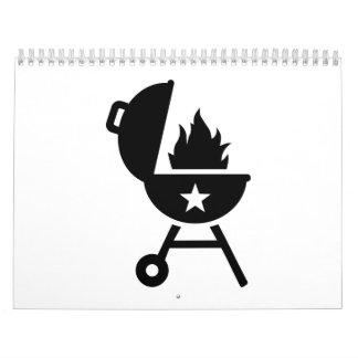 Fuego de la barbacoa del Bbq Calendario