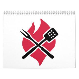 Fuego de la barbacoa del Bbq Calendarios