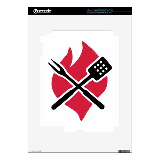 Fuego de la barbacoa del Bbq Calcomanías Para iPad 2