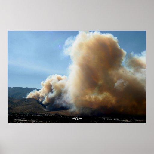 Fuego de la cascada, Carson City, Nevada 7/14/04 Póster