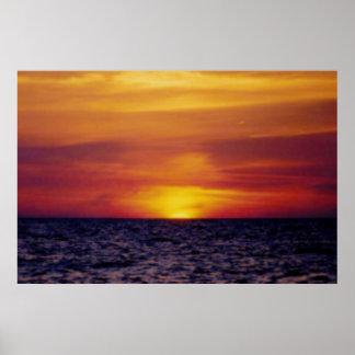 Fuego de la Costa del Golfo Póster