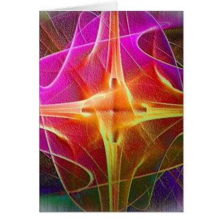Fuego de la estrella tarjeta de felicitación