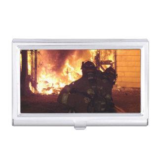 Fuego de la estructura del bombero cajas de tarjetas de visita