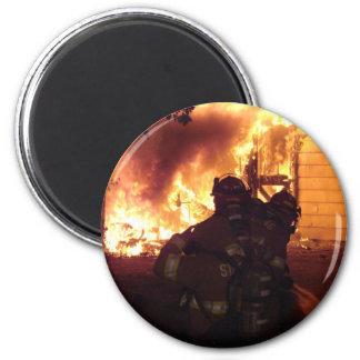 Fuego de la estructura imán redondo 5 cm