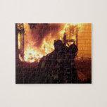 Fuego de la estructura puzzle con fotos