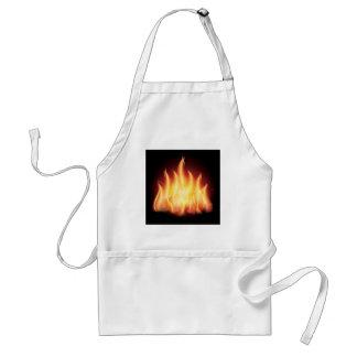 Fuego de la llama de la hoguera delantal