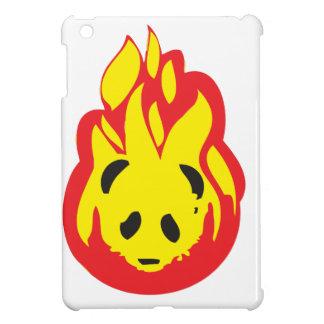 fuego de la llama de la panda iPad mini fundas