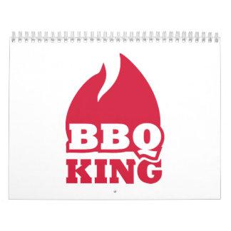 Fuego de la llama del rey del Bbq Calendarios