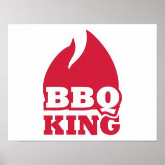 Fuego de la llama del rey del Bbq