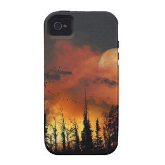 Fuego de la Luna Llena iPhone 4/4S Funda