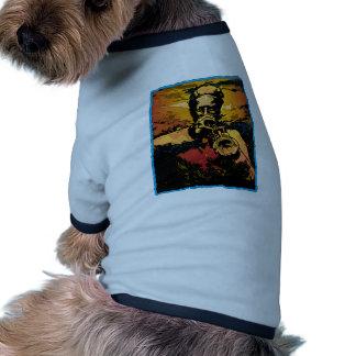 Fuego de la trompeta camisas de mascota