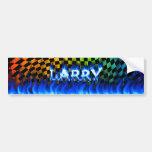 Fuego de Larry y diseño azules de la pegatina para Etiqueta De Parachoque