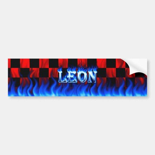 Fuego de León y diseño azules de la pegatina para  Pegatina Para Auto