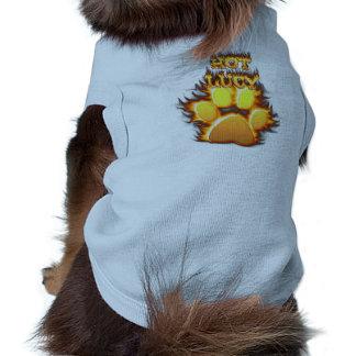 Fuego de Lucy y camisa calientes del perro de la l Playera Sin Mangas Para Perro