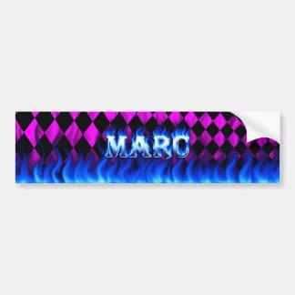 Fuego de Marc y diseño azules de la pegatina para  Pegatina Para Auto