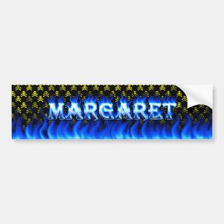 Fuego de Margaret y desig azules de la pegatina pa Pegatina Para Auto