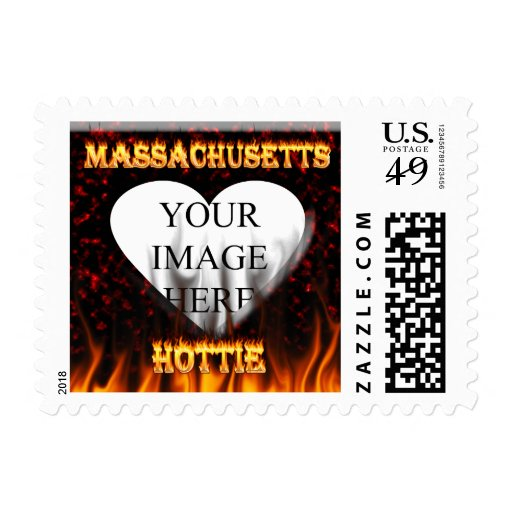 Fuego de Massachusetts Hottie y corazón de mármol Franqueo