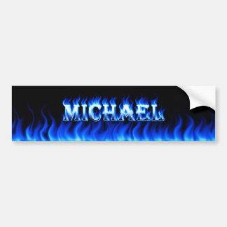 Fuego de Michael y diseño azules de la pegatina pa Pegatina Para Auto