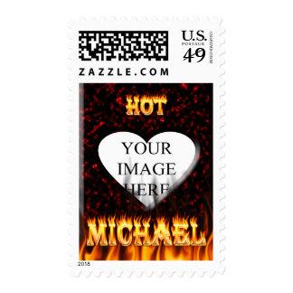 Fuego de Michael y mármol calientes del rojo de Franqueo